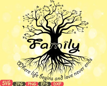 family tree word art svg clip art love never ends tree deep roots