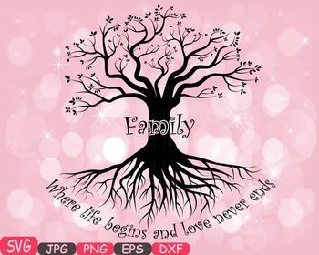 Family tree Word Art SVG clip art love never ends Tree Dee