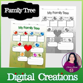 Family tree activity worksheet
