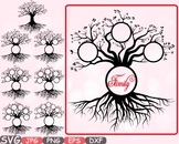 Family tree clip art Word Art Branche SVG past Tree Deep Roots quote -302CS