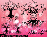 Family tree clip art Word Art Branche SVG  past Tree Deep Roots quote -302S
