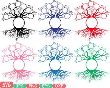 Family tree clip art Word Art Branche SVG past Tree Deep Roots quote -302bS