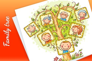 Family Tree in Pictures, Little Child with his Parents and
