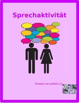 Familie (Family in German) Family tree Partner Speaking Activity
