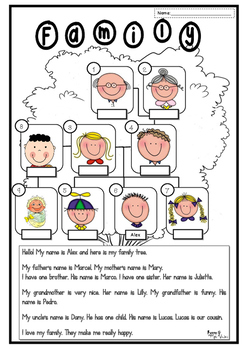 Family tree worksheet Freebie
