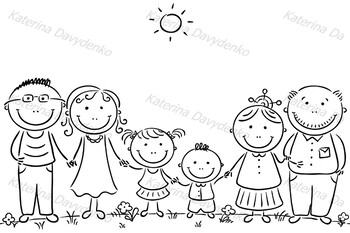 Family with Two Children and Grandparents