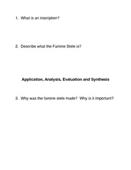 Famine in Ancient Egypt Common Core activities