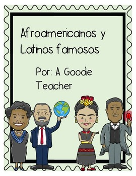 Spanish Reading Comprehension Passages: Famous African Americans and Latinos