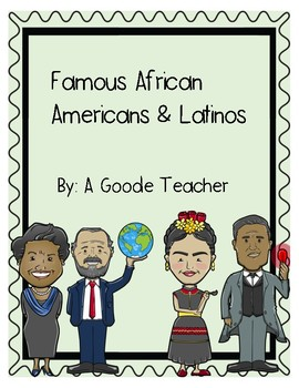 Reading Comprehension Passages: Famous African Americans & Latinos (nonfiction)