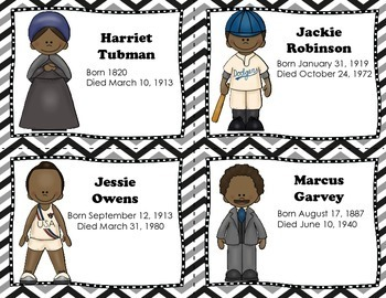 Famous African-American Biographies {Black History Month Task Cards}