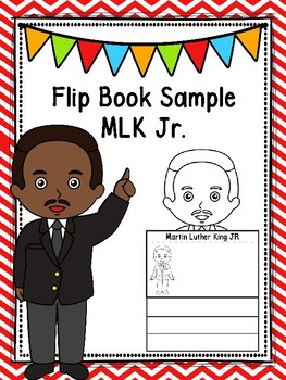 Famous African Americans  Flip Book Sample (MLK)