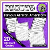 Famous African American Quotes Writing Prompts