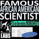 Famous African American Scientists Fill-in-the-Notes Worksheet