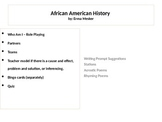 "African American Histroy ""Who Am I"" Role Play"