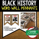 Famous African American Word Wall Pennants (Black History Month) #fisforfebruary