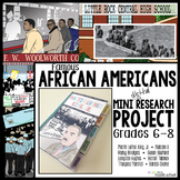 Black History Month: Famous African Americans Mini Research Project