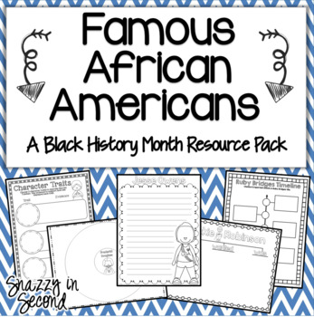 Famous African-Americans: Black History Month Pack