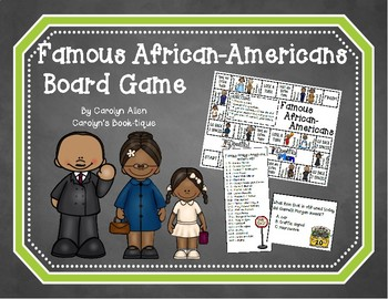 Famous African-Americans Board Game