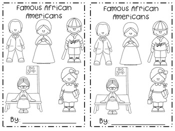 Famous African Americans Emergent Reader