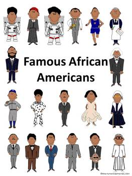 Famous African-Americans – First Grade PowerPoint, Booklet, and Writing Activity