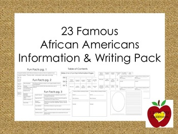 Famous African Americans Information and Writing Pack (Black History Month)