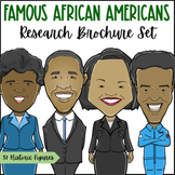 Famous African Americans Research Brochure Set | Black His