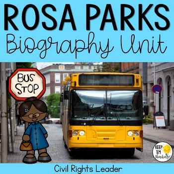 Rosa Parks Biography Unit: Black History Month Activities