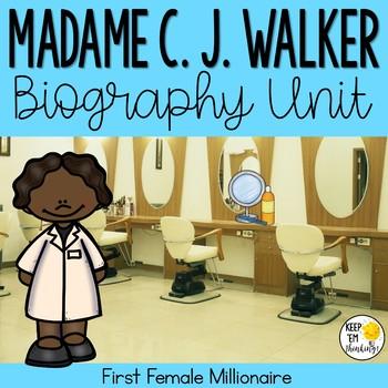 Sarah Breedlove Walker Biography Unit : Black History Month Activities