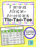 Famous African-Americans Tic Tac Toe Game