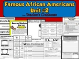 Famous African Americans Unit #2 from Teacher's Clubhouse