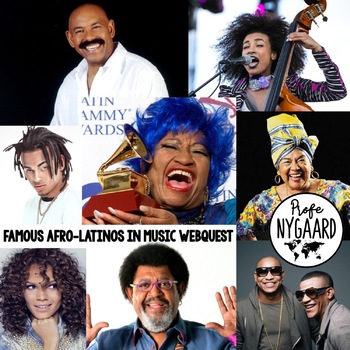 Famous Afrolatinos in Music WebQuest