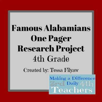 Famous Alabamian One Pager Research Project