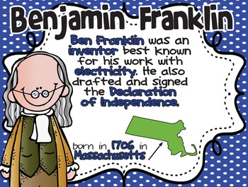 Benjamin Franklin: Famous American {PowerPoint & Printables}