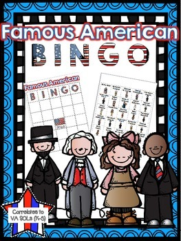 Famous American Bingo Review ( correlates to Virginia SOL K-3)