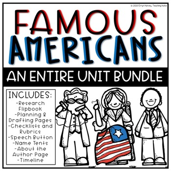 Famous American Biography Research Entire Unit