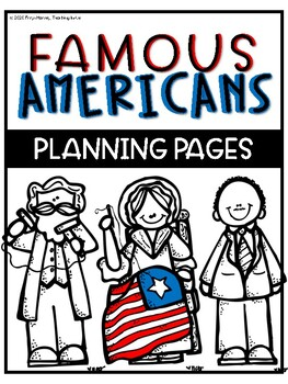 Famous American Biography Research Planning Pages