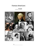 Famous American Booklet with pictures