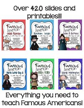 Famous American Bundle Pack- PowerPoint & Printables {Virginia 2nd Grade}