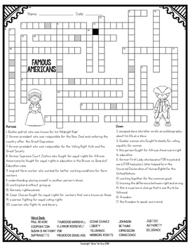 Famous American Crossword
