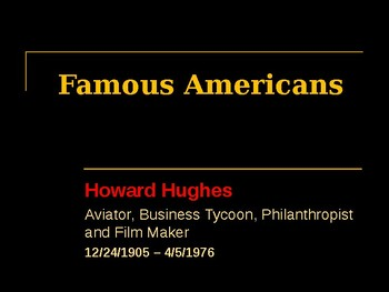 Famous American Entrepreneurs - Howard Hughes