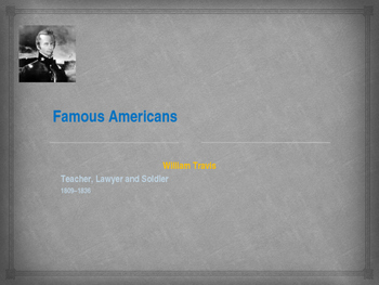 Famous American Fighters - William Travis