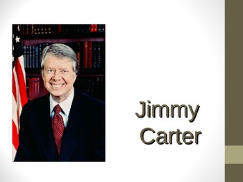 Famous American, Former President Jimmy Carter PowerPoint for Elementary