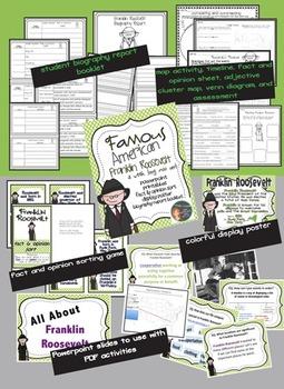 Franklin Roosevelt: Famous American Mini Unit {PowerPoint & Printables}