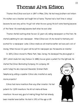 Famous American Inventors  {Edison}