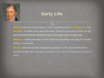 Famous Americans - Eli Whitney
