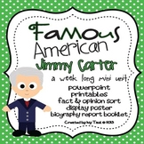 Jimmy Carter: Famous American Mini Unit {PowerPoint & Printables}
