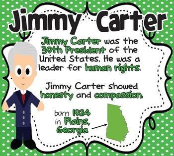 Jimmy Carter: Famous American Mini Unit {PowerPoint & Printables}