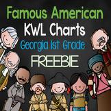 Famous American KWL Charts Freebie {Georgia 1st Grade}
