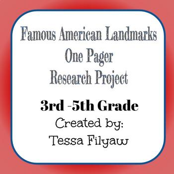 Famous American Landmark Research and One Pager