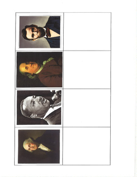 Famous American Leaders Picture Match- File Folder Activity